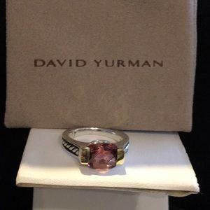 David Yurman Jewelry - David Yurman Sterling Silver/14K/Pink Tourm Ring
